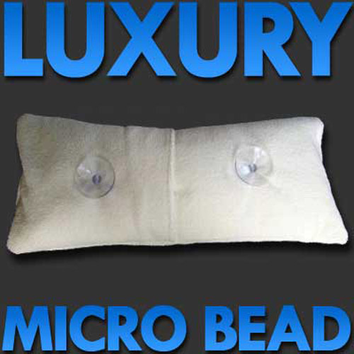Luxury Spa / Bath Pillow with Microfibre Cover