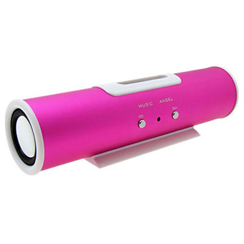Double Speaker System for iPod & MP3 Player - Pink