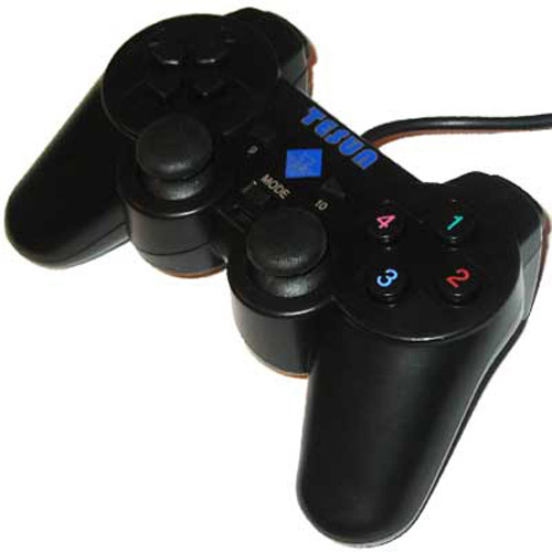10 Button USB Shock Game Pad - Black
