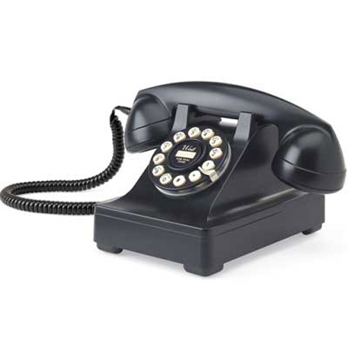 Retro Vintage 1930's Series 302 Black Phone Old Telephone Black