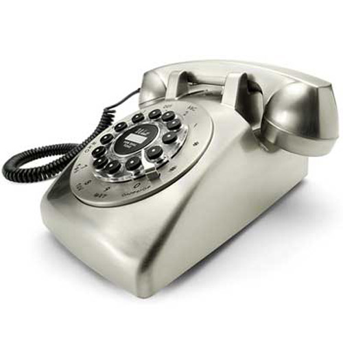 Retro Dreyfuss 500 Brushed Chrome Desk Phone