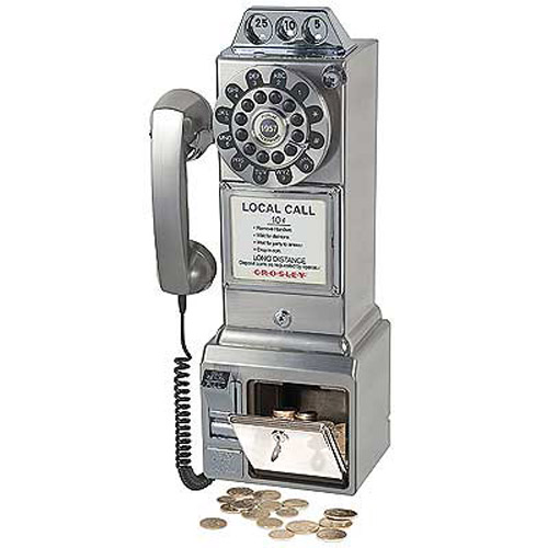 Retro American Diner Phone - Chrome