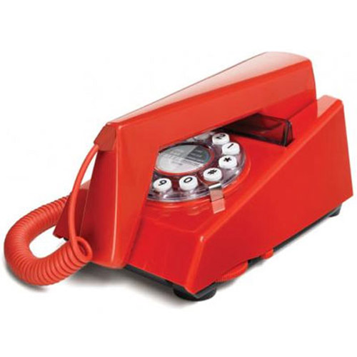 Retro 1970's Trim Phone - Red