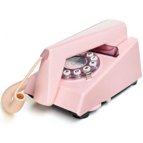 Retro 1970's Trim Phone - Pink