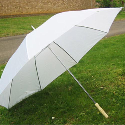 Large Classic Wedding & Golf Umbrella - White