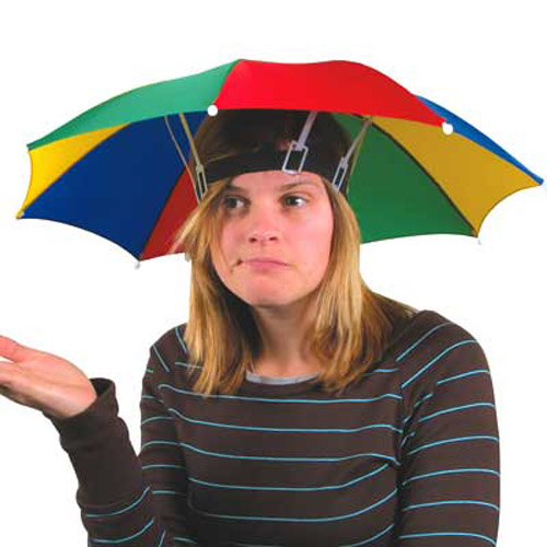 UMBRELLA HAT - Great Fun for golf, fishing, sailing, etc