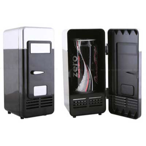 USB Desktop Fridge Drinks Cooler - Black
