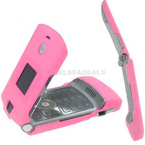 Motorola V3 Clip On Case - Baby Pink