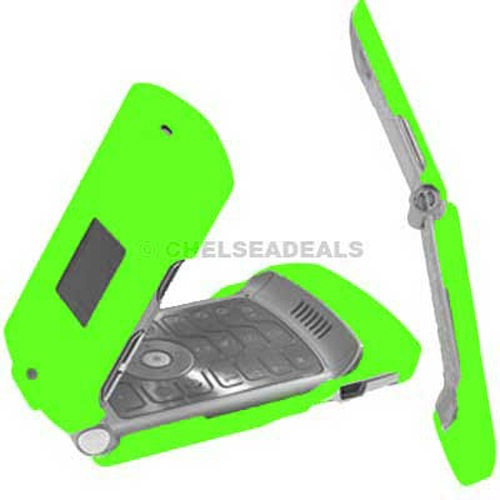 Motorola V3 Clip On Case - Green