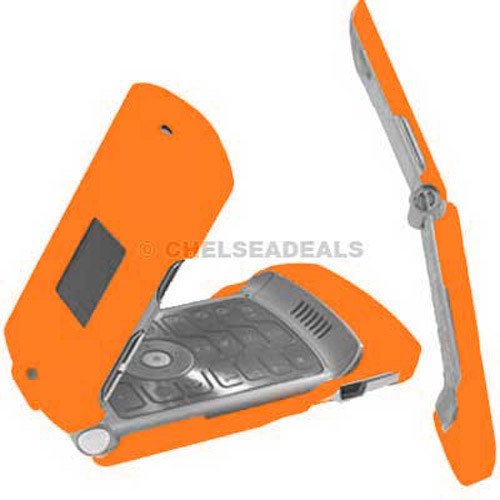 Motorola V3 Clip On Case - Orange