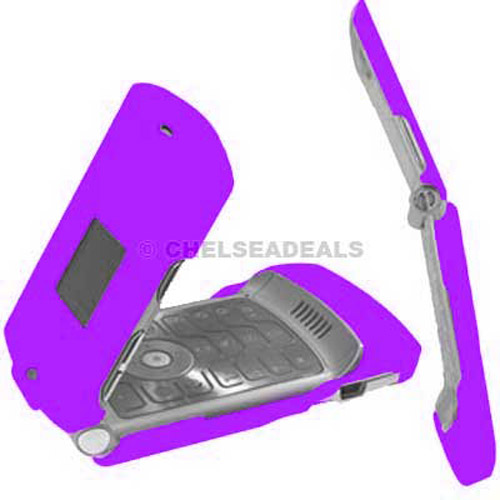 Motorola V3 Clip On Case - Purple