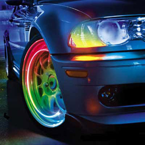 Multi Colour LED Tyre Valve Cap