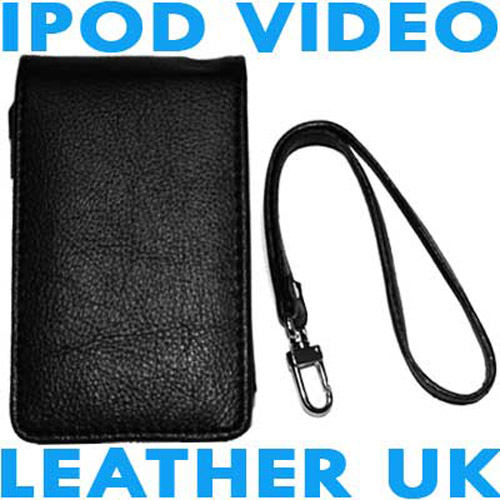 Executive iPod Video Leather Case - Black