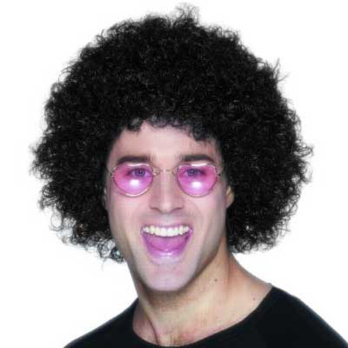 70s Black Afro Wig - Ideal for Fancy Dress