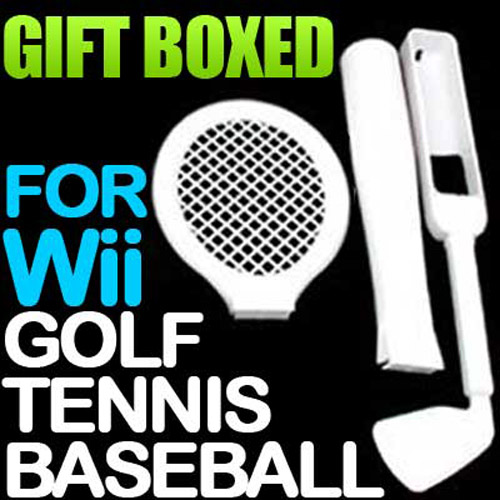 3 IN 1 SPORTS ACCESSORY PACK For Nintendo Wii