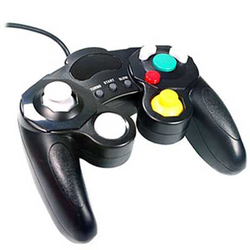 Vibration Controller for Nintendo Wii and Gamecube - Black