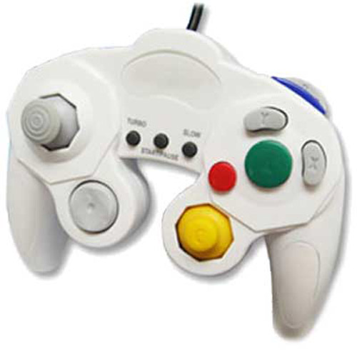 Vibration Controller for Nintendo Wii and Gamecube - White