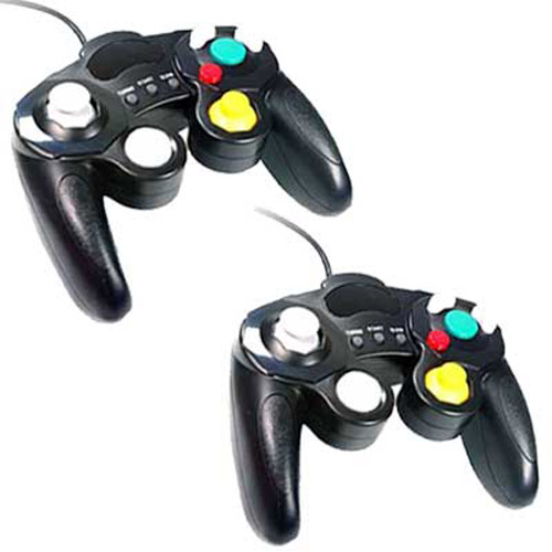 2 x Black Vibration Controller Pads for Wii GameCube