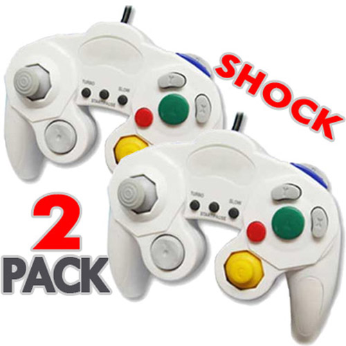 2 x White Vibration Controller Pads for Wii GameCube