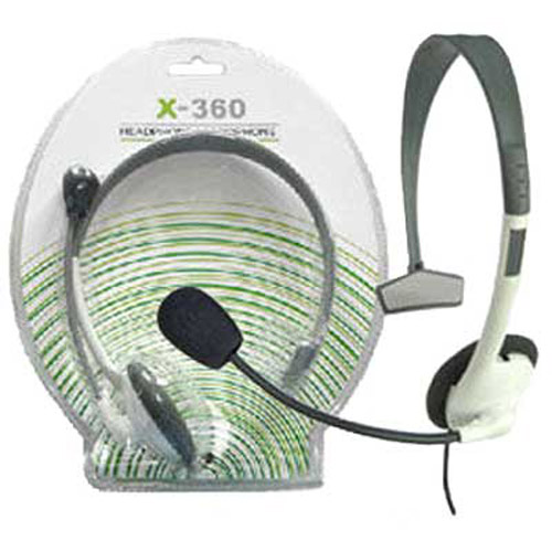 Earphone Headset & Microphone for XBOX 360 Live Console